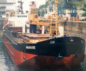 MV MANAURE at loading operations in Venezuela
