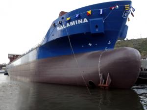 Launching of the MV SALAMINA 1 in Bilbao